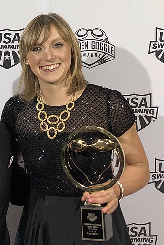Katie Ledecky - Ledecky at the 2018 Golden Goggle Awards