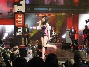One of the Boys (Katy Perry album) - Perry performing the opening act for YouTube Live in 2008
