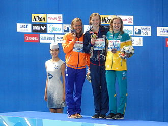 Swimming at the 2015 World Aquatics Championships – Women's 400 metre freestyle - Victory Ceremony