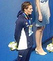 Kazan 2015 - Victory Ceremony 50m backstroke M (Camille Lacourt).JPG