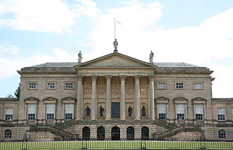 English country house - Kedleston Hall designed by Matthew Brettingham and Robert Adam, one of the great power houses.