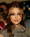 Colour photograph of Keira Knightley in 2005