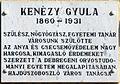 Kenézy Gyula plaque (Hajdúszoboszló Szilfákalja u 1-3).jpg