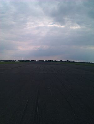 RAF Kenley - Looking down the North/South runway from the Northern end