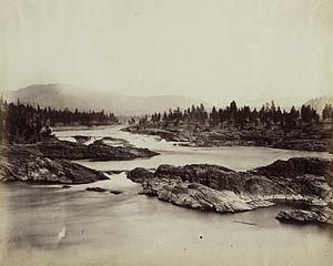 Kettle Falls - Kettle Falls in 1860