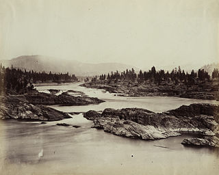 Kettle Falls Submerged waterfall on the Columbia River in Washington, United States