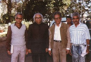 Habib Tanvir - Image: Khalid Abidi,Prof. Desnavi,Playwright Habib Tanvir