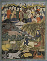 Khusraw being cared for by Shirin, Safavid miniature painting, Iran, 17th century.jpg