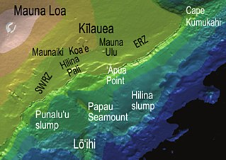 Hilina Slump section of the Big Island of Hawaii