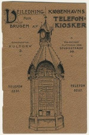 A/S Københavns Telefonkiosker - Instructions from one of the telephone kiosks