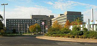 Klinikgebäude des Klinikums Niederberg.