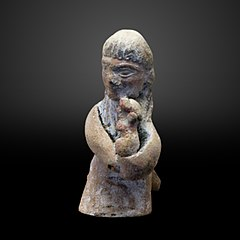 Kneeling woman with child-AO 22856