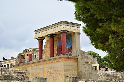 Knossos is located within the Municipality of Heraklion and has been called as Europe's oldest city Knossos palace.jpg