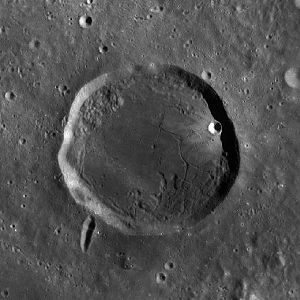 Kopff (crater) - Image: Kopff crater WAC