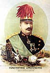 Popular lithograph of Smolenskis as hero of the 1897 war