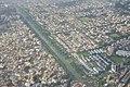 Krishnapur and Salt Lake City Separated by Kestopur Canal - Aerial View - Kolkata 2016-08-04 5674.JPG