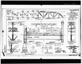 LAYOUT 95'O' LOW TRUSS. (No. 452LT4) - Shoshone River Bridge, County Road 111, Lovell, Big Horn County, WY HAER WYO,2-LOVE.V,1-5.tif