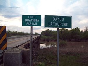 Louisiana Highway 15 - Ouachita/Richland Parish Line over Bayou Lafourche