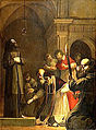 LE PAPE NICOLAS V, EN 1449, SE FAIT OUVRIR LE CAVEAU DE SAINT FRANCOIS D'ASSISE.jpg