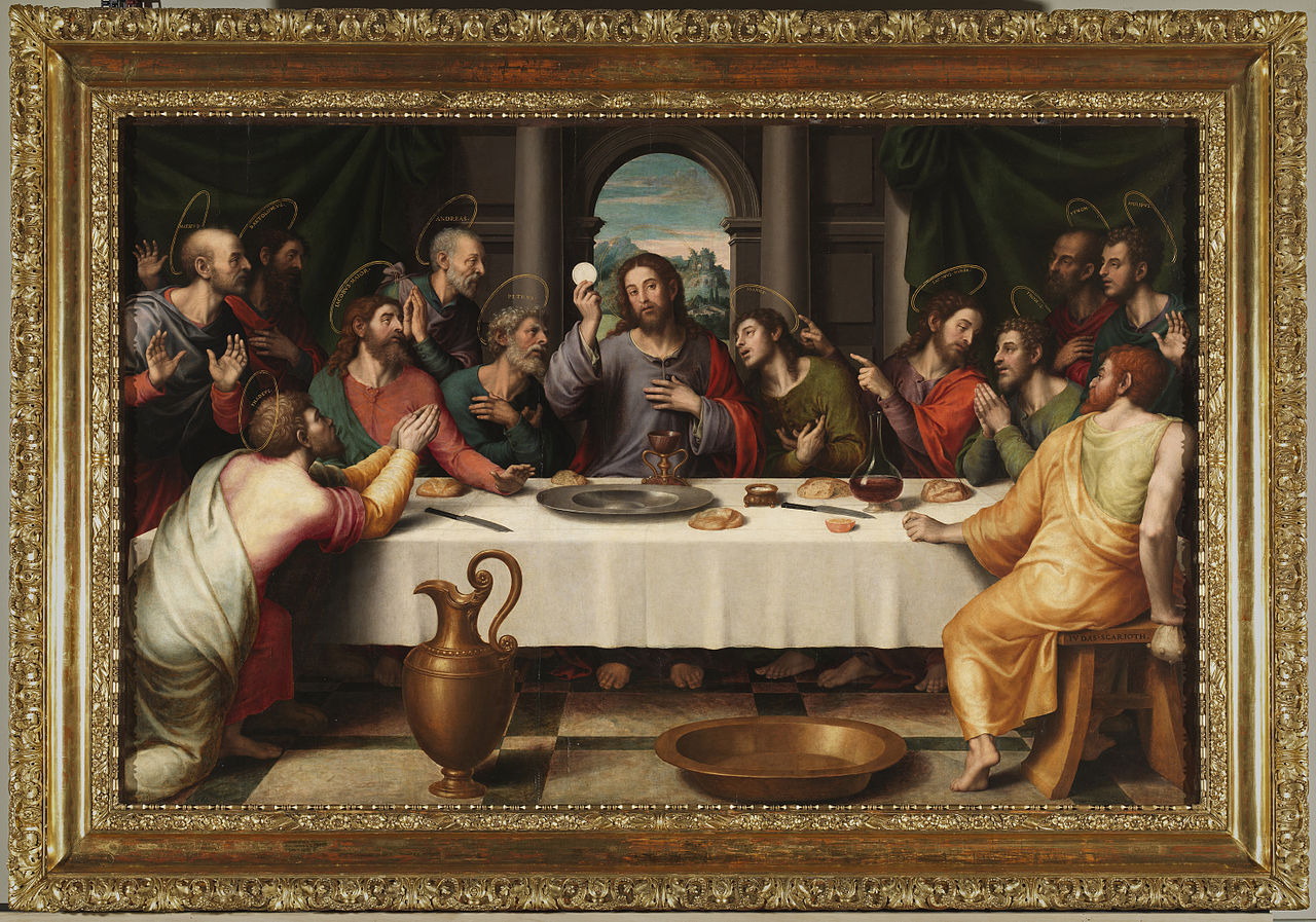 File La última Cena Juan De Juanes Restaurada Jpg Wikimedia Commons