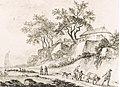 La Chapelle-Saint-Mesmin. Eglise au bord de la Loire AT Desfriches 1764.jpg