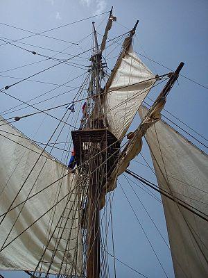 La Grace - Fore-mast and rigging