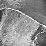 La Perouse Glacier, tidewater glacier terminus and outwash, September 16, 1966 (GLACIERS 5562).jpg