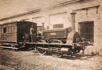 Buenos Aires Western Railway - Locomotive La Porteña, c. 1873