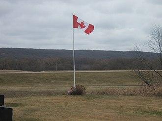 La Rivière, Manitoba - Image: La Riviere Manitoba canada flag 2014