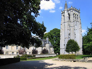Theobald of Bec - The ruins of the Abbey of Le Bec at Le Bec-Hellouin, Eure, Haute Normandie, France, in 2005