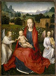 Hans Memling: Virgin and Child with two angels