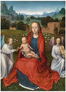 La Virgen y el Niño entre dos ángeles (Memling).jpg