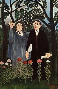 """Henri Rousseau, """"La Muse inspirant le poè..."""