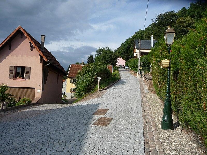 La rue du château à Walschbronn