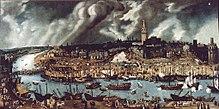 Peinture représentant Séville au XVIesiècle.