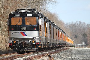 Lackawanna Cut-Off Restoration Project - NJ Transit uses the Lackawanna Cut-Off at Port Morris to store retired electric locomotives