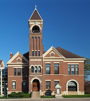 Lake City, Minnesota - Historic wing of the Lake City City Hall, built in 1899
