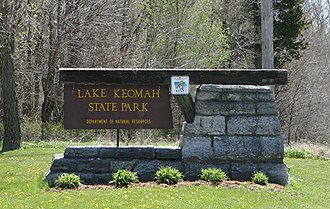 Lake Keomah State Park - Lake Keomah State Park entrance sign