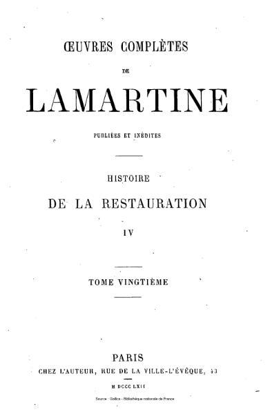 File:Lamartine - Œuvres complètes de Lamartine, tome 20.djvu