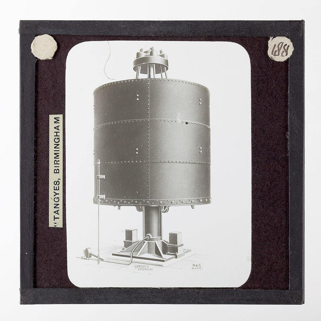 File:Lantern Slide - Tangyes Ltd, Hydraulic Accumulator, circa 1910