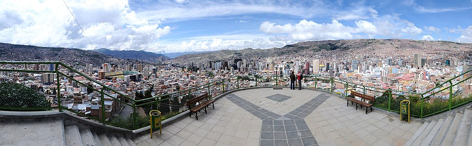 La Paz şehrinden bir görüntü.