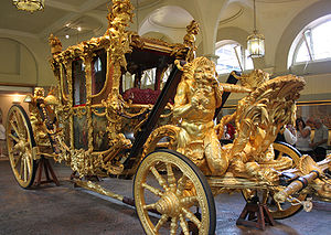 Coach (carriage) - The Gold State Coach of the British monarch