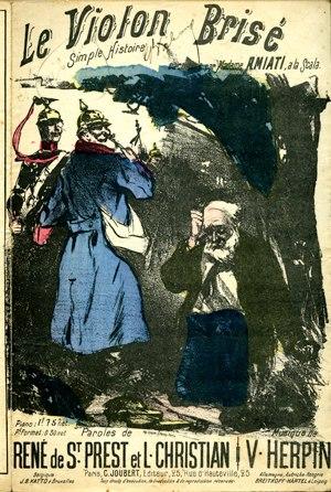 Cândido de Faria - Image: Le Violon brisé (couverture du petit format, 1885)