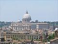 Le dôme de Saint Pierre vu depuis la villa Médicis (Rome) (5841266833).jpg