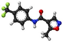 Leflunomide ball-and-stick model.png
