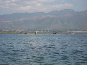 Inle Lake - Inle Lake with its leg-rowing Intha people is a major tourist destination in Burma.