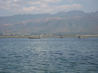 Intha people - Inle Lake with its leg-rowing Intha people is a major tourist destination in Burma (Myanmar).