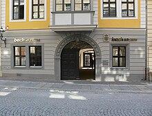 photo: façade du musée Bach de Leipzig