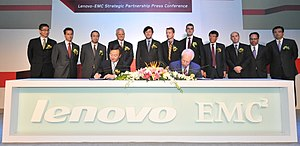 Lenovo - The signing ceremony for the LenovoEMC joint venture