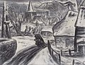 Leo Gestel Woman on a path in Blaricum in winter.jpg